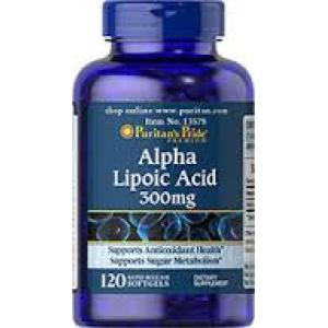 Puritan's Pride Alpha Lipoic Acid 300 mg / 120 Softgels