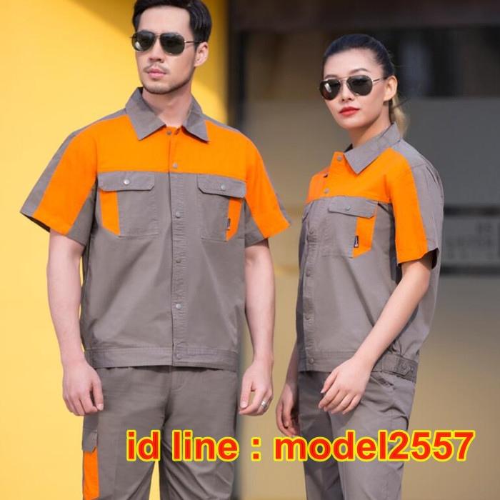 M6103001ชุดฟอร์มพนักงานช่างวิศวกรรมช่างไฟฟ้าอุตาสาหกรรมแขนยาว M-4XL