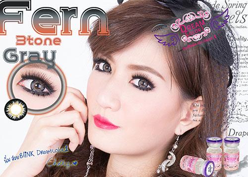 Fern Gray Dreamcolor1 คอนแทคเลนส์ ขายส่งคอนแทคเลนส์ Bigeyeเกาหลี ขายส่งตลับคอนแทคเลนส์