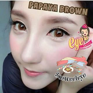 Papaya Brown Dueba สั้น/Power -600