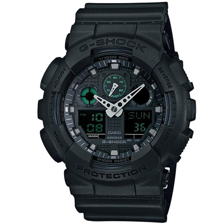 นาฬิกา คาสิโอ Casio G-Shock Limited Models Military Black Series รุ่น GA-100MB-1A สินค้าใหม่ ของแท้ ราคาถูก พร้อมใบรับประกัน