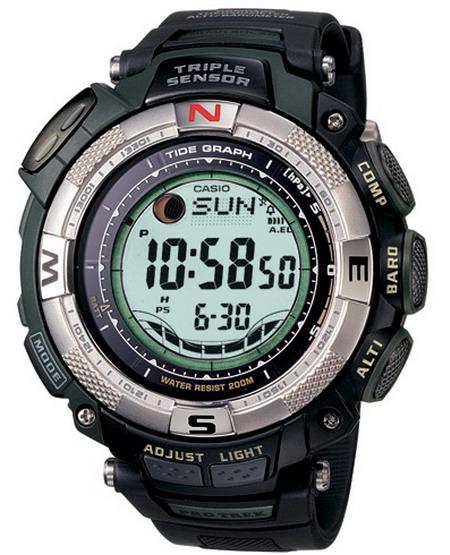 นาฬิกา คาสิโอ Casio Protrek Triple Sensor รุ่น PRG-130-1VDR สินค้าใหม่ ของแท้ ราคาถูก พร้อมใบรับประกัน