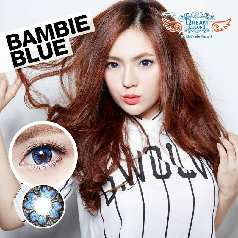Bambie Blue Dreamcolor1เลนส์นิ่มใส่สบาย คอนแทคเลนส์ ขายส่งคอนแทคเลนส์ ขายส่งBigeye Bigeyeเกาหลี