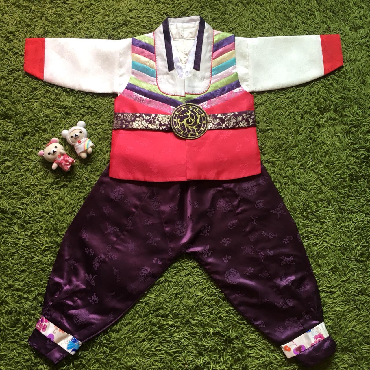 Hanbok Boy ฮันบกผ้าไหมชาววัง สำหรับเด็กชาย 3ขวบ