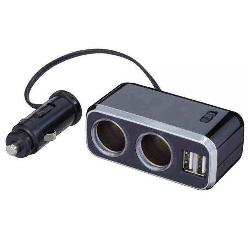 Socket 2 ช่อง พร้อม USB 2 ช่อง