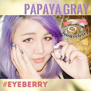 สั้น/power -75 PAPAYA GRAY EYEBERRYLENS