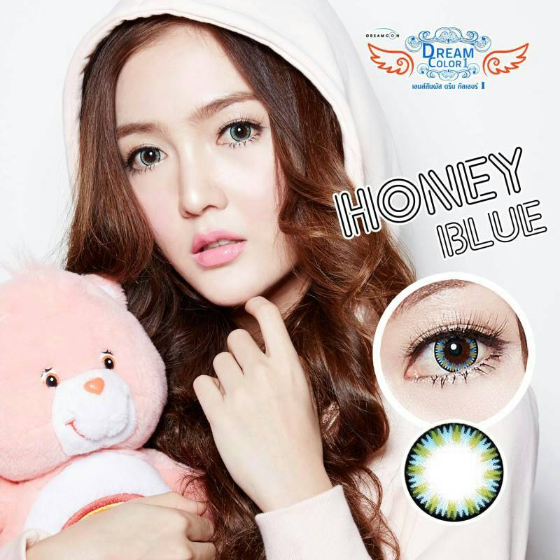 Honey Blue Dreamcolor1เลนส์นิ่มใส่สบาย คอนแทคเลนส์ ขายส่งคอนแทคเลนส์ ขายส่งBigeye Bigeyeเกาหลี