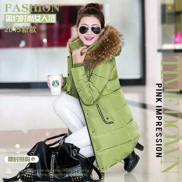 CW5909023 เสื้อโค้ทผู้หญิงหวานเกาหลีตัวยาวแต่งเฟอร์ขน(พรีออเดอร์) รอ 3 อาทิตย์หลังโอนเงิน