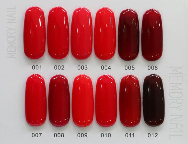 สีทาเล็บเจล EN.OU ยกเซ็ต 12ขวด โทนสีแดง RED WINE