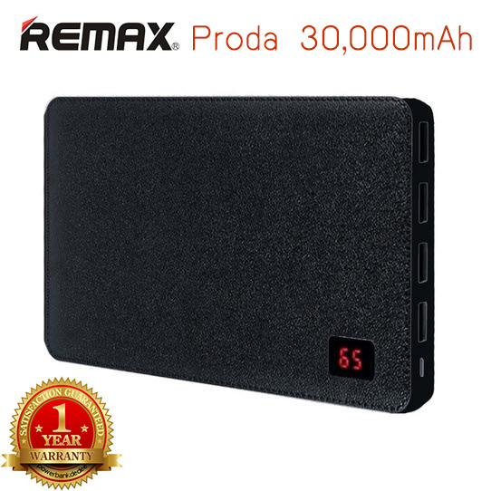 Remax Proda Note Book 30000 mAh ของแท้ สีดำ รับประกันจาก 1 ปี โรงงาน