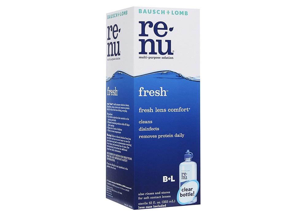 Renu fresh multi-purpose solution ขนาด 60 ml. น้ำยาล้างคอนแทคเลนส์ น้ำยาแช่คอนแทคเลนส์