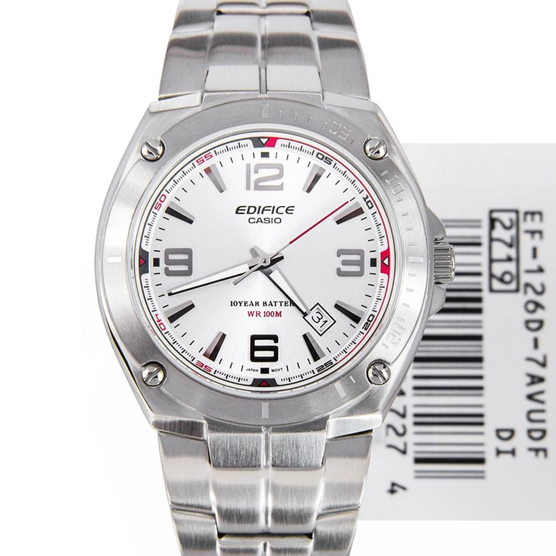 นาฬิกา คาสิโอ Casio Edifice 3-Hand Analog รุ่น EF-126D-7AV สินค้าใหม่ ของแท้ ราคาถูก พร้อมใบรับประกัน