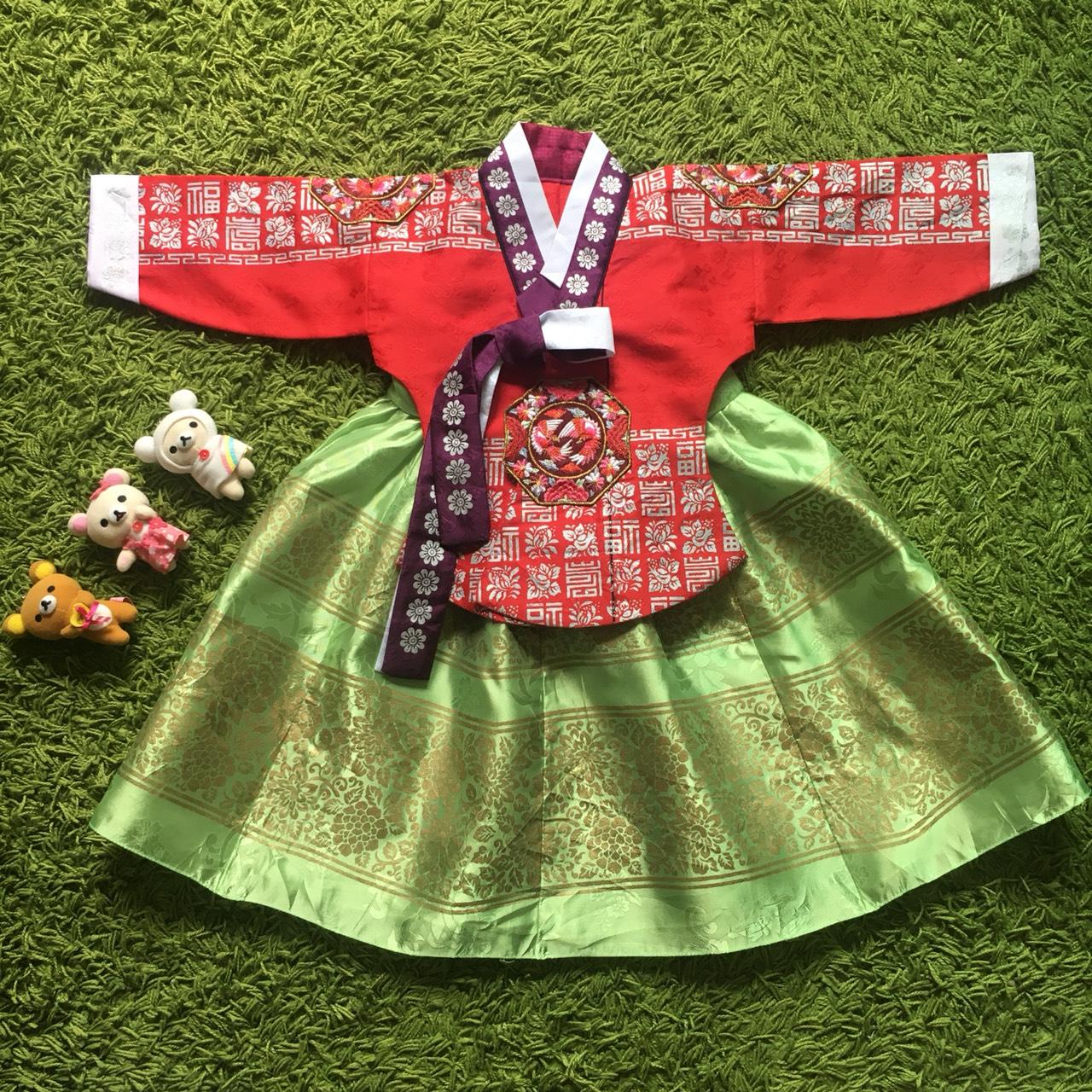 Hanbok Girl ฮันบกผ้าไหมชาววัง สำหรับเด็ก 1 ขวบ