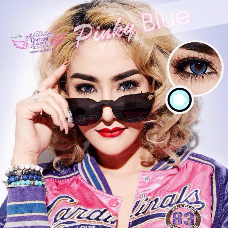 Pinky Blue Dreamcolor1 คอนแทคเลนส์ ขายส่งคอนแทคเลนส์ Bigeyeเกาหลี ขายส่งตลับคอนแทคเลนส์ ขายส่งน้ำยาล้างคอนแทคเลนส์