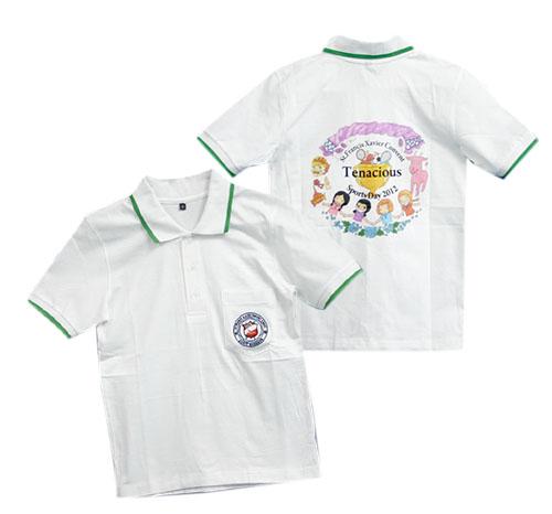 เสื้อคอโปโล ผ้า TC จูติ สีขาว
