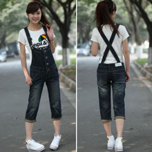 OW5803004 เอี้ยมกางเกงยีนส์สาวเกาหลี 8 ส่วน คาบอยน่ารัก (พรีออเดอร์) รอสินค้า 3 อาทิตย์หลังโอนเงิน