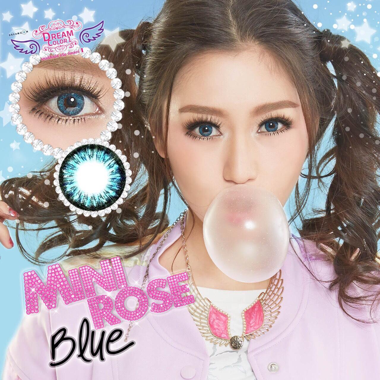 Mini Rose Blue Dreamcolor1เลนส์นิ่มใส่สบาย คอนแทคเลนส์ ขายส่งคอนแทคเลนส์ ขายส่งBigeye Bigeyeเกาหลี