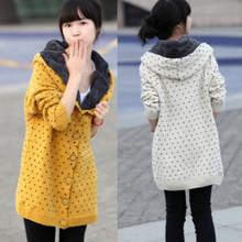 QW5711001 เสื้อคลุมกันหนาวเกาหลี ไหมถัก วินเทจ ตัวยาว (พรีออเดอร์) รอ 3 อาทิตย์หลังโอนเงิน