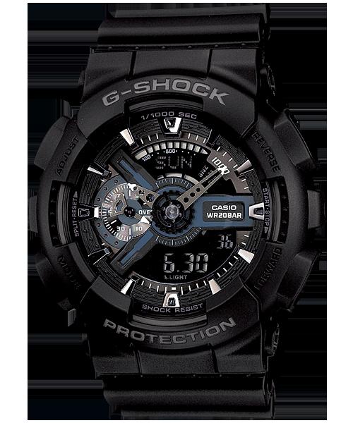 นาฬิกา คาสิโอ Casio G-Shock Standard Analog-Digital รุ่น GA-110-1B สินค้าใหม่ ของแท้ ราคาถูก พร้อมใบรับประกัน