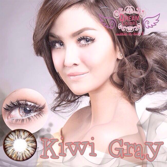 Kiwi Gray Dreamcolor1 คอนแทคเลนส์ ขายส่งคอนแทคเลนส์ Bigeyeเกาหลี ขายส่งตลับคอนแทคเลนส์