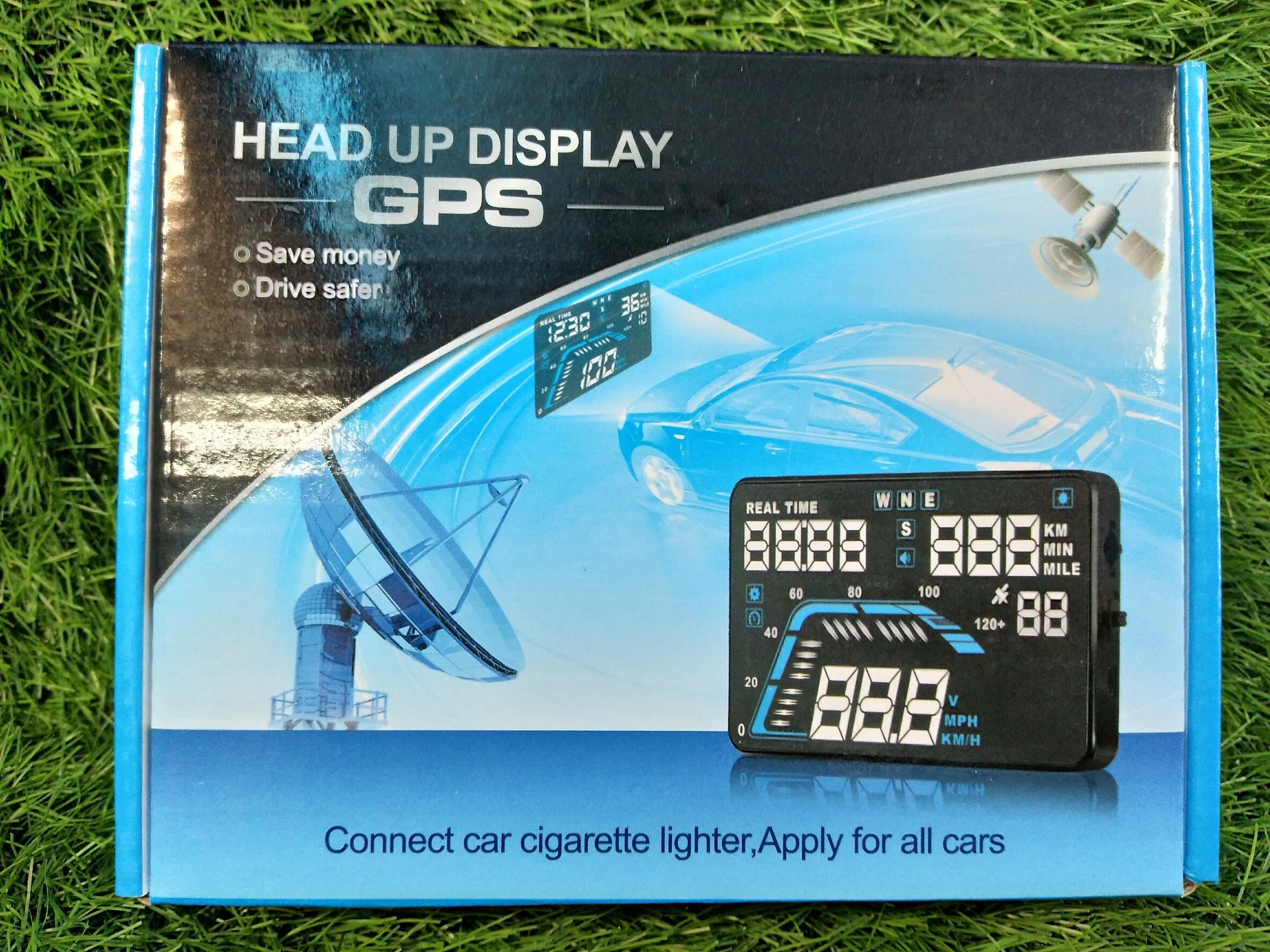 HUD ระบบ GPS อุปกรณ์แสดงความเร็ว บนกระจก ปลอดภัย ล้ำหน้า ใช้ง่ายแค่เสียบกับที่จุด บุหรี่
