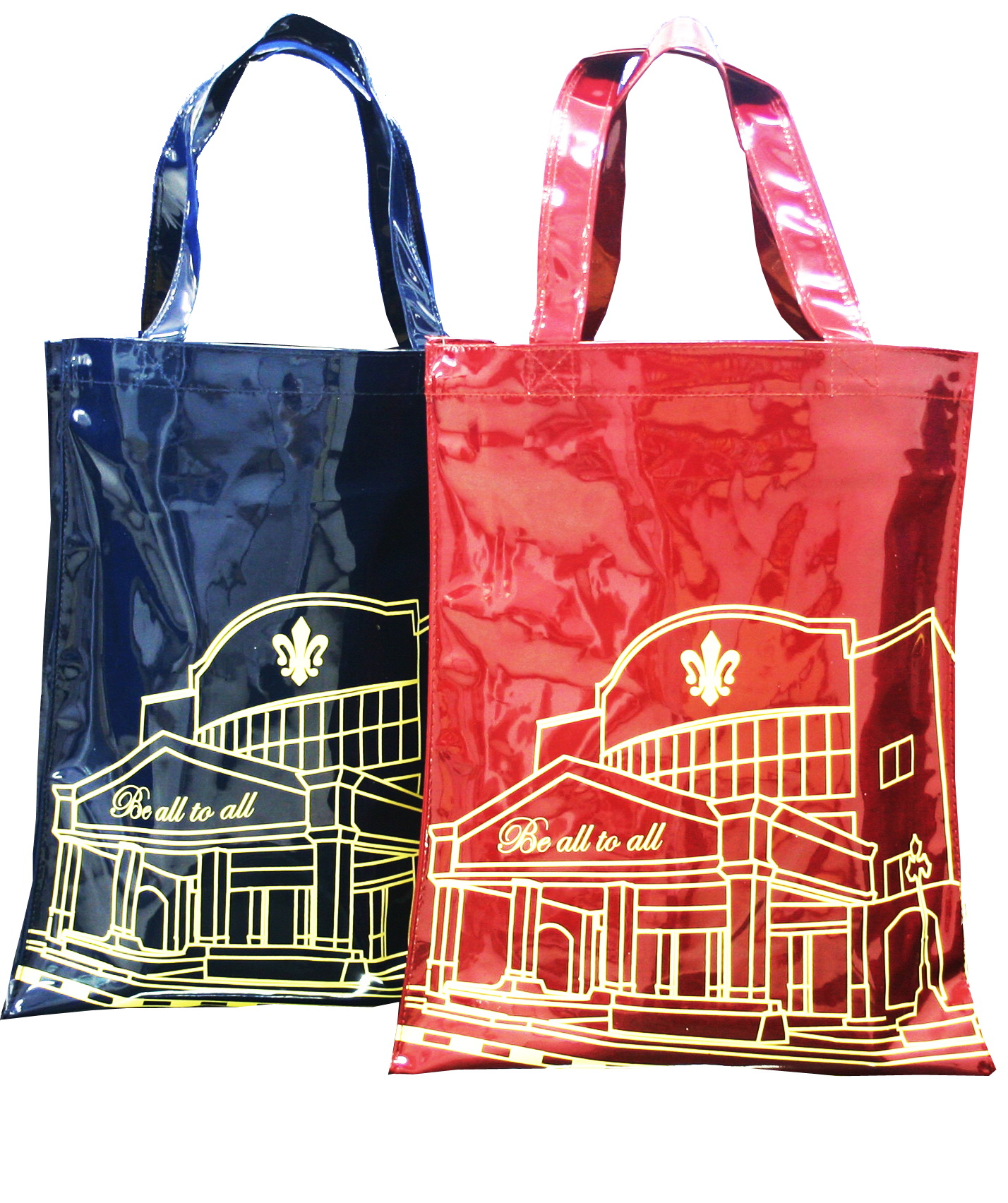 กระเป๋าหนังแก้วสีแดง