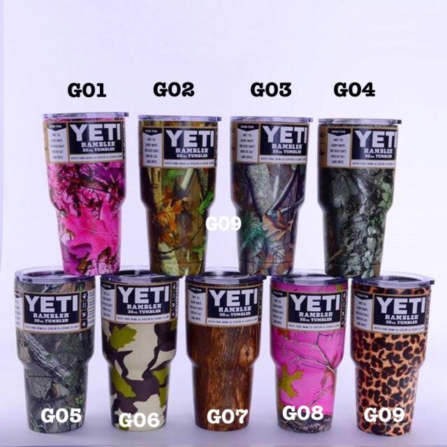 YETI Rambler แก้วเก็บความเย็น เก็บน้ำแข็ง 30 oz Model G แถมมือจับและหลอดโค้ง 1 อัน