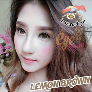 สายตาสั้น/POWER -475 LEMON BROWN EYEBERRYLENS