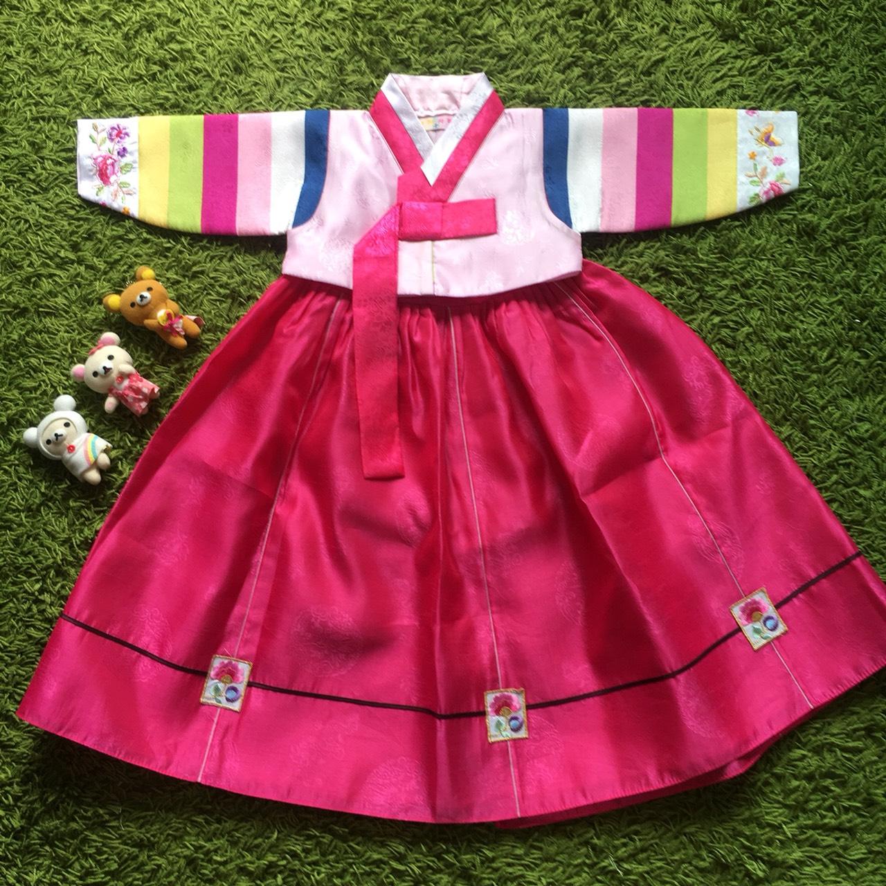 Hanbok Girl ฮันบกผ้าไหมชาววัง สำหรับเด็ก 2 ขวบ