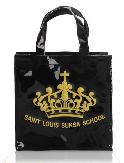 กระเป๋าหนังแก้วสีดำ