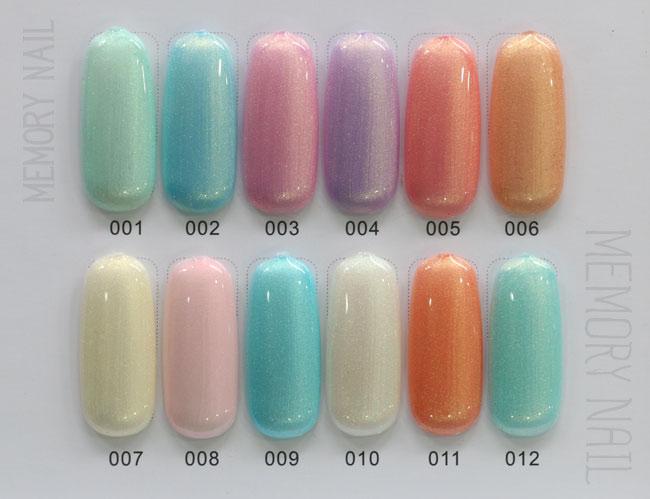 สีทาเล็บเจล EN.OU ยกเซ็ต 12ขวด สีมุกคละสี LIGHT COLOR