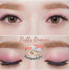 สั้น/power -75 PUFFY BROWN EYEBERRYLENS