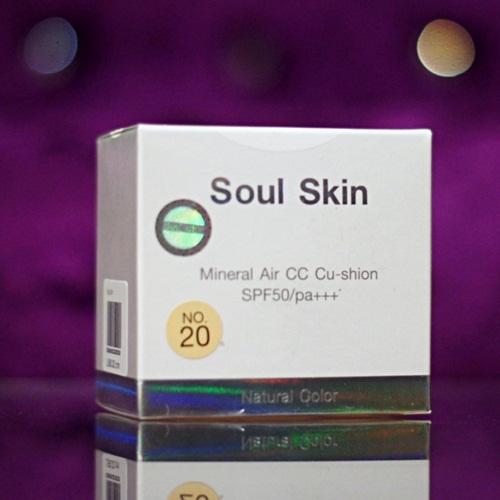 Soul Skin Mineral Air CC Cushion ตลับจริง+รีฟิล
