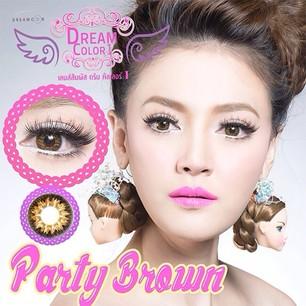 Party Brown Dreamcolor1 คอนแทคเลนส์ ขายส่งคอนแทคเลนส์ Bigeyeเกาหลี ขายส่งตลับคอนแทคเลนส์ ขายส่งน้ำยาล้างคอนแทคเลนส์