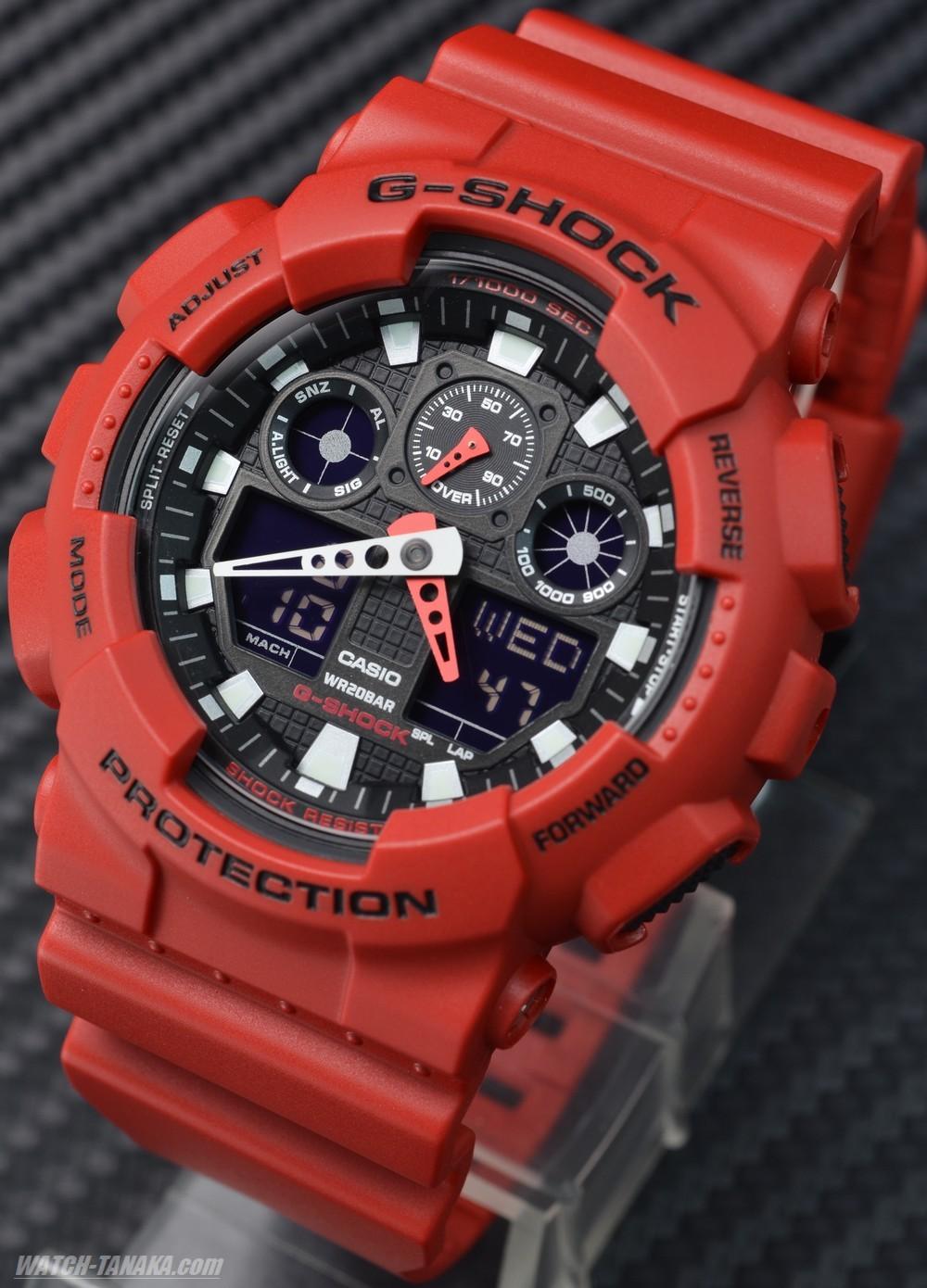 นาฬิกา คาสิโอ Casio G-Shock Standard Analog-Digital รุ่น GA-100B-4A สินค้าใหม่ ของแท้ ราคาถูก พร้อมใบรับประกัน