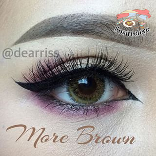 สั้น/power -125 MORE BROWN EYEBERRYLENS