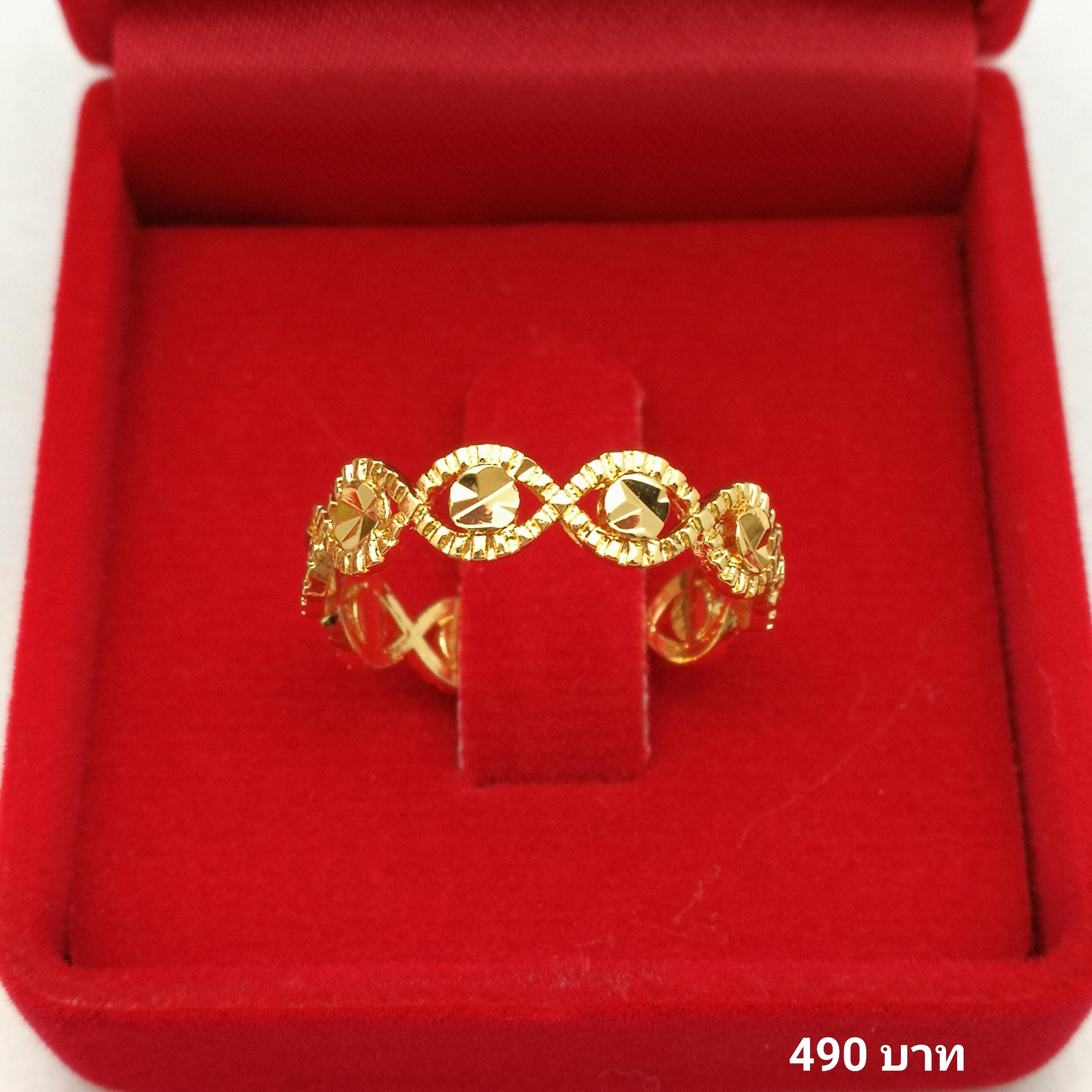 แหวนหุ้ม ทองคำแท้รหัส JR076