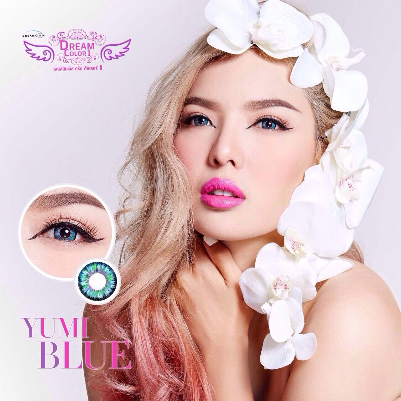 Yumi Blue Dreamcolor1 คอนแทคเลนส์ ขายส่งคอนแทคเลนส์ Bigeyeเกาหลี ขายส่งตลับคอนแทคเลนส์ ขายส่งน้ำยาล้างคอนแทคเลนส์