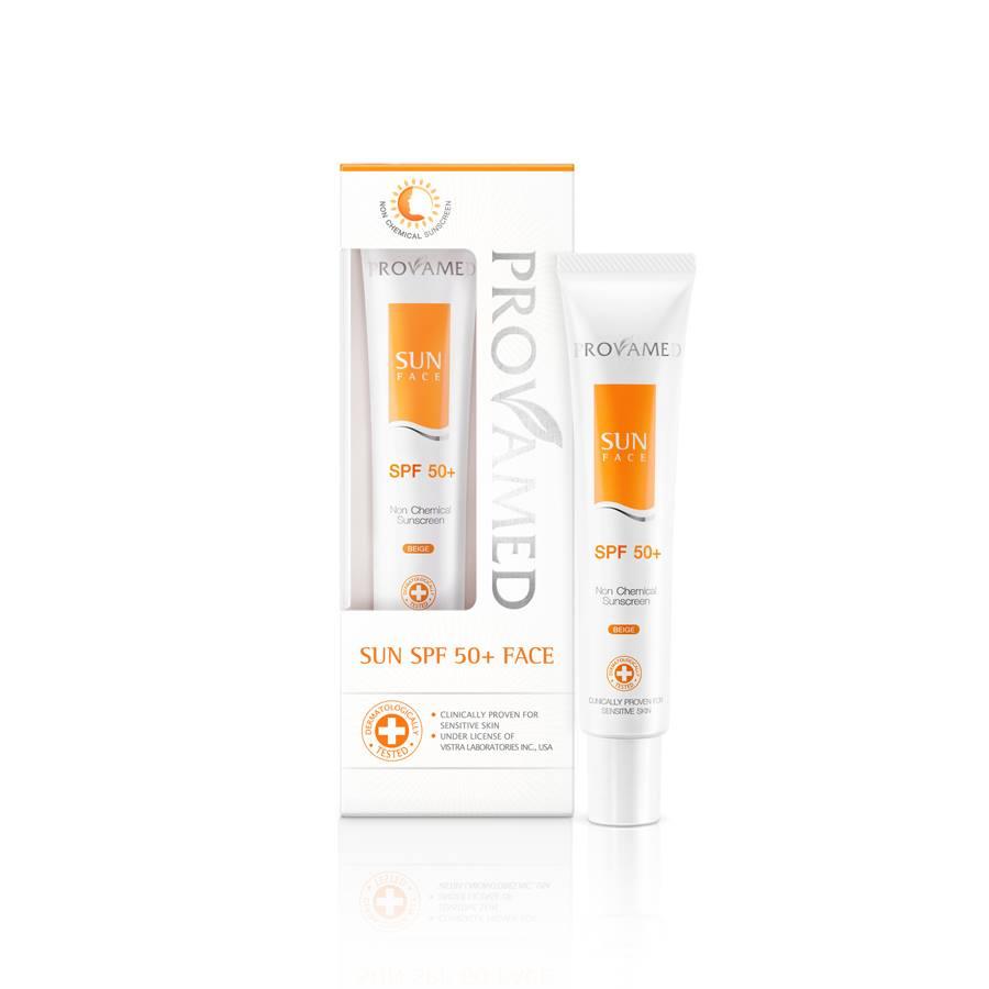 Provamed Sun SPF50+ Face 30 ml. สีเนื้อ (Beige)