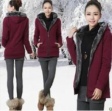 KW5711004 เสื้อกันหนาวสาวเกาหลี คอปก มีฮูด แต่งซิปหน้า