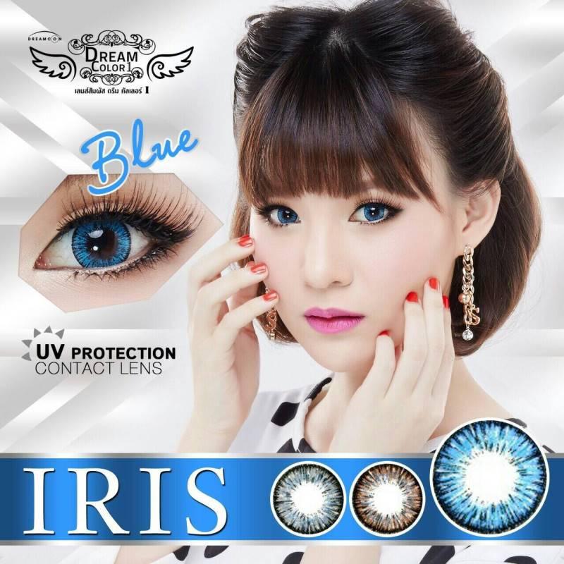 Iris Blue Dreamcolor1 เลนส์นิ่มใส่สบาย บิ๊กอายเกาหลีแท้100% ขายส่งคอนแทคเลนส์ ขายส่งBigeye