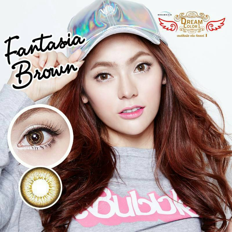 Fantasia Brown Dreamcolor1เลนส์นิ่มใส่สบาย คอนแทคเลนส์ ขายส่งคอนแทคเลนส์ ขายส่งBigeye Bigeyeเกาหลี