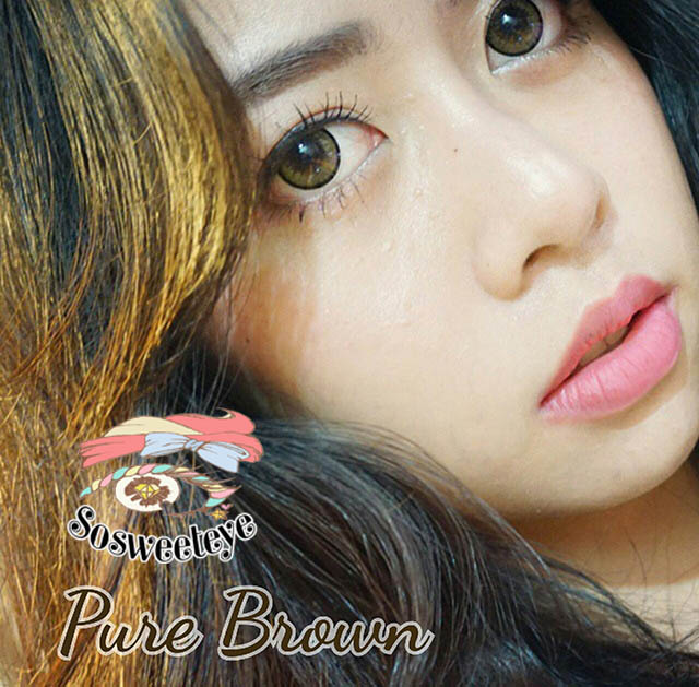 สายตาสั้น/POWER -475 PURE BROWN EYEBERRYLENS