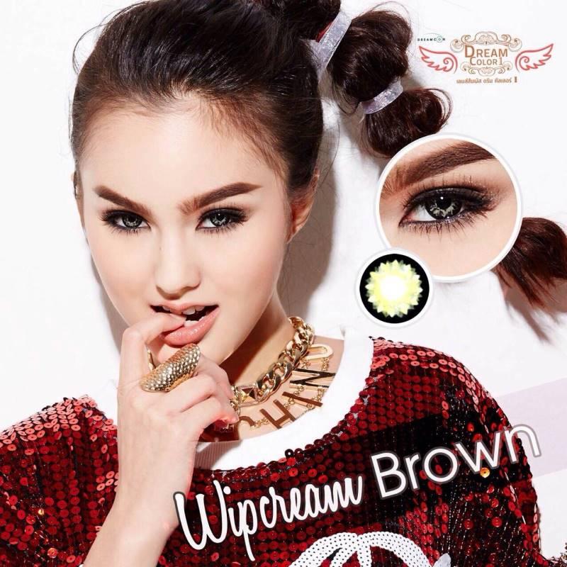 Wipcream Brown Dreamcolor1 คอนแทคเลนส์ ขายส่งคอนแทคเลนส์ Bigeyeเกาหลี ขายส่งตลับคอนแทคเลนส์ ขายส่งน้ำยาล้างคอนแทคเลนส์