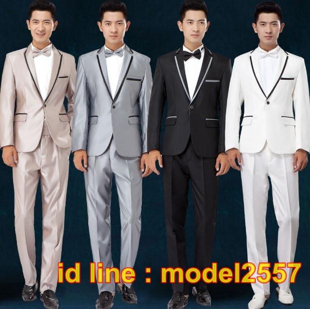 JM6102003 ชุดเสื้อสูทผู้ชายงานแต่งงานเจ้าบ่าว ชุดสูทงานเลี้ยงชุดสูทไนต์คลับ