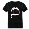 SAINT LAURENT VAMPIRE BLACK T-SHIRT