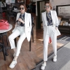 UP6011002เสื้อชุดสูทผู้หญิงสีขาวแขนยาวสาวทำงานแฟชั่นเกาหลี