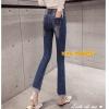 JW61050044 กางเกงยีนส์ขากระดิ่งสาวเกาหลีหวานเอวสูงสียีนส์เข้ม