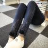 JW6105001 กางเกงยีนส์แฟชั่น แต่งปลายขาเก๋งานเกาหลี (พรีออเดอร์)