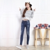 JW6011003 กางเกงยีนส์ผู้หญิงแฟชั่นเกาหลีเอวต่ำเข้ารูปเซอร์ (พรีออเดอร์)